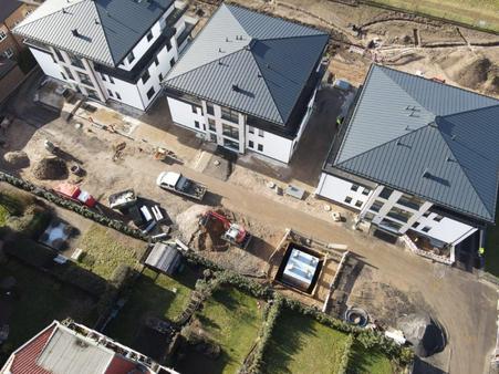 vorderer Teil der Baustelle, Thüringer Straße